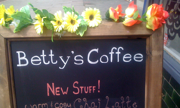Betty's flower sign
