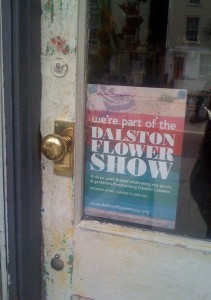 we're part of the Dalston Flower Show
