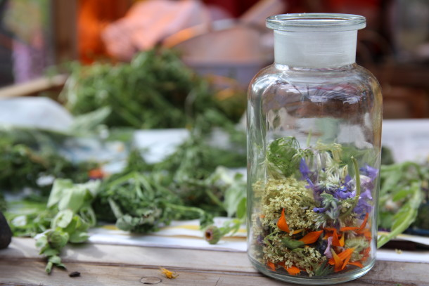 Calendula jar